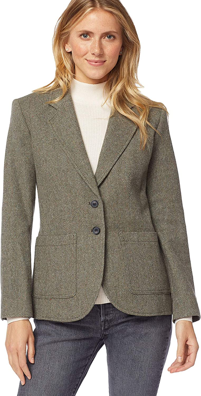 1930s Style Blouses, Shirts, Tops | Vintage Blouses Pendleton Womens Brynn Patch Pocket Wool Blazer $149.58 AT vintagedancer.com