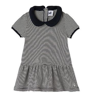 31726a51edb5 Amazon.com  Petit Bateau Baby Girl Short Sleeve Striped Dress with ...