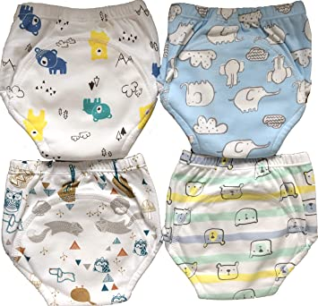 7ee48ba8b2bd 4 Pack Potty Training Pants/Padded Underwear for Toddlers | Washable &  Resuable | Soft