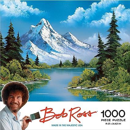02992162d1f Amazon.com  Bob Ross Mountain Reflections - 1000 Piece Jigsaw Puzzle ...