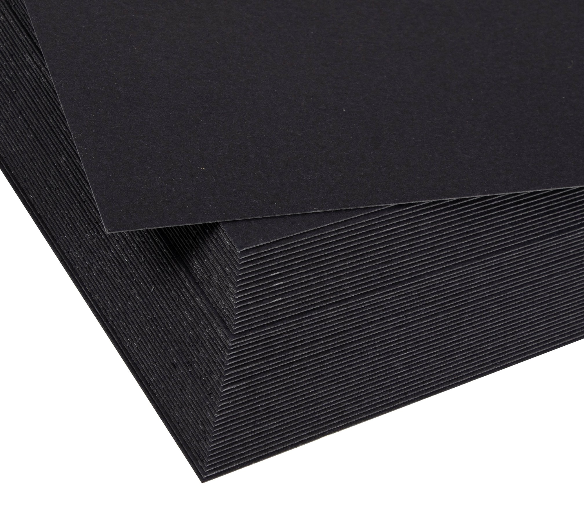 Binding Presentation Cover - 50-Pack Report Cover Paper, Letter Sized Cardstock Paper for Business Documents, School Projects, Un-Punched, 300GSM, Black, 8.5 x 11 inches by Best Paper Greetings (Image #3)