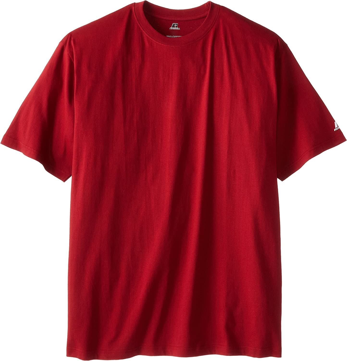 B000783QK6 Russell Athletic Men's Big & Tall Basic Short Sleeve Solid Crew Neck T-Shirt, Cardinal Red, 3XT 911iUVM34hL