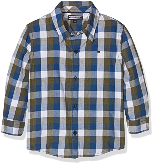 Tommy Hilfiger Jungen Hemd DG Gingham Twill Check Shirt L S  Amazon.de   Bekleidung bce1139f40