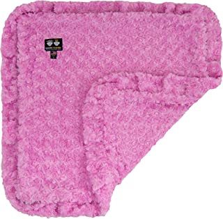 product image for BESSIE AND BARNIE Cotton Candy (Ruffles) Luxury Ultra Plush Faux Fur Pet, Dog, Cat, Puppy Super Soft Reversible Blanket (Multiple Sizes)