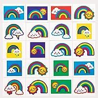 Baker Ross AT973 Regenboog Tatoeages voor Kinderen (6 stuks) Speelgoed en Traktaties voor Kinderen