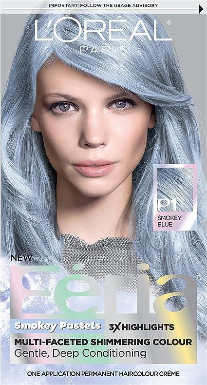 LOreal Paris Hair Color Feria Pastels Dye, Smokey Blue P1 by LOreal Paris