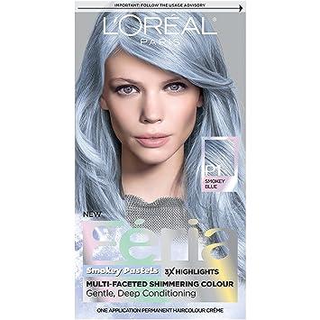 Amazoncom Loreal Paris Feria Pastels Hair Color P1 Sapphire - Light-pastel-blue-coloring-page