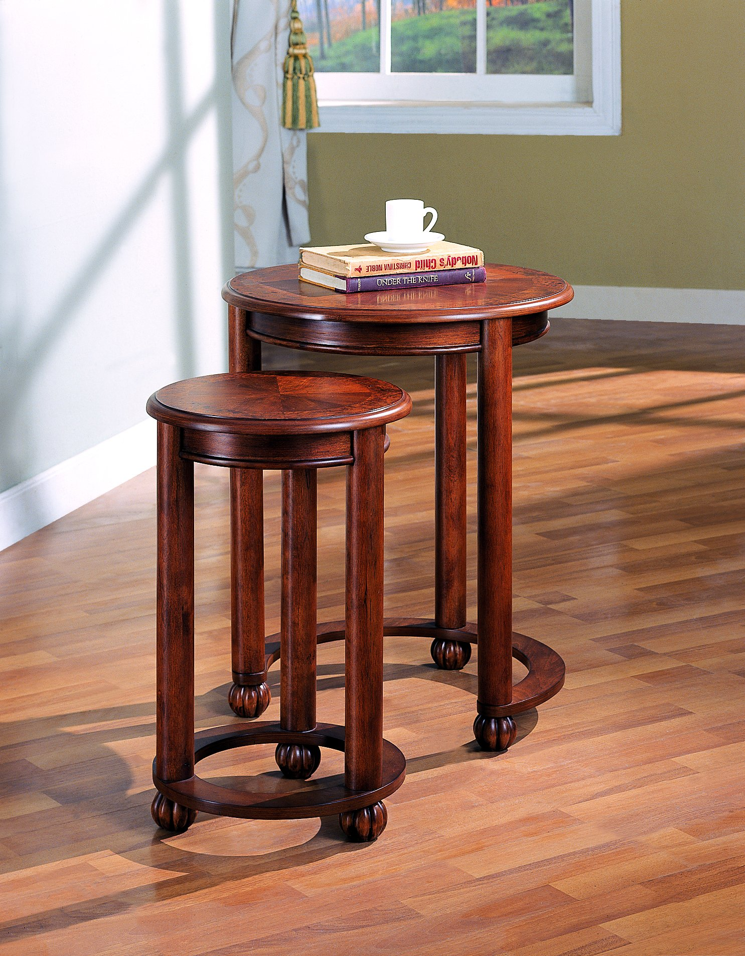 2-piece Round Nesting Tables Warm Amber by Coaster Home Furnishings