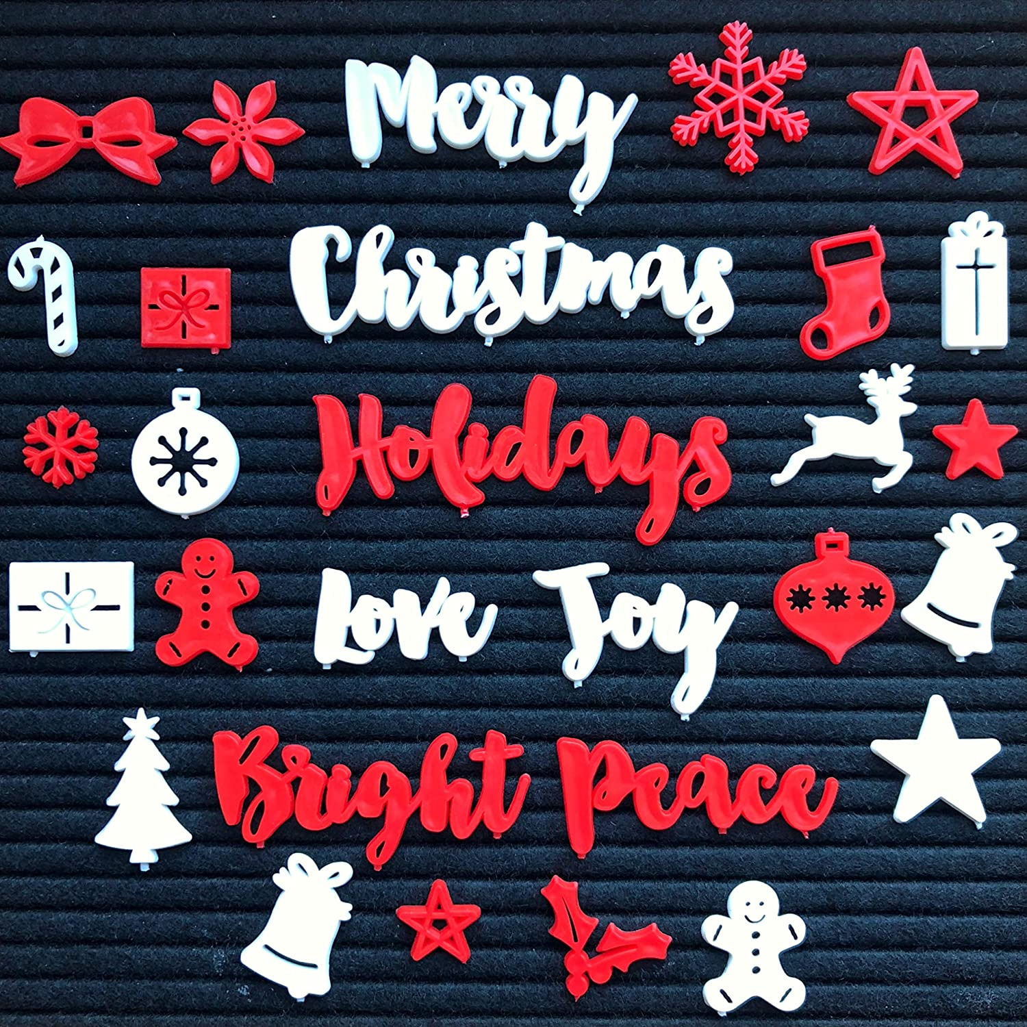 New!! Christmas and Holiday Words and Symbols for Felt Letter Boards (Board NOT Included) 77One