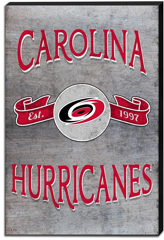 KH Sports Fan 18x12 Canvas Vintage Banner Carolina Hurricanes