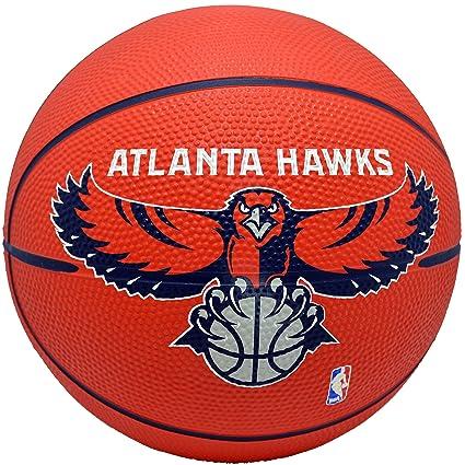 Amazon.com: Spalding NBA Atlanta Hawks Rojo Mini Balón de ...
