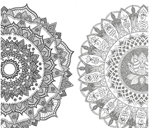 Mandala Flor de Loto Cartulinas gruesas de 50 x 70 CMS. PACK 2 MANDALAS PARA COLOREAR GIGANTES: Mandala Fuego P/ósters de gran tama/ño para pintar y decorar