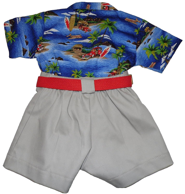 796ca79dc9 Amazon.com: camobarn Baby Boys Beach Fun Hawaiian Shirt and Shorts Set Made  In The USA (12 Month): Clothing