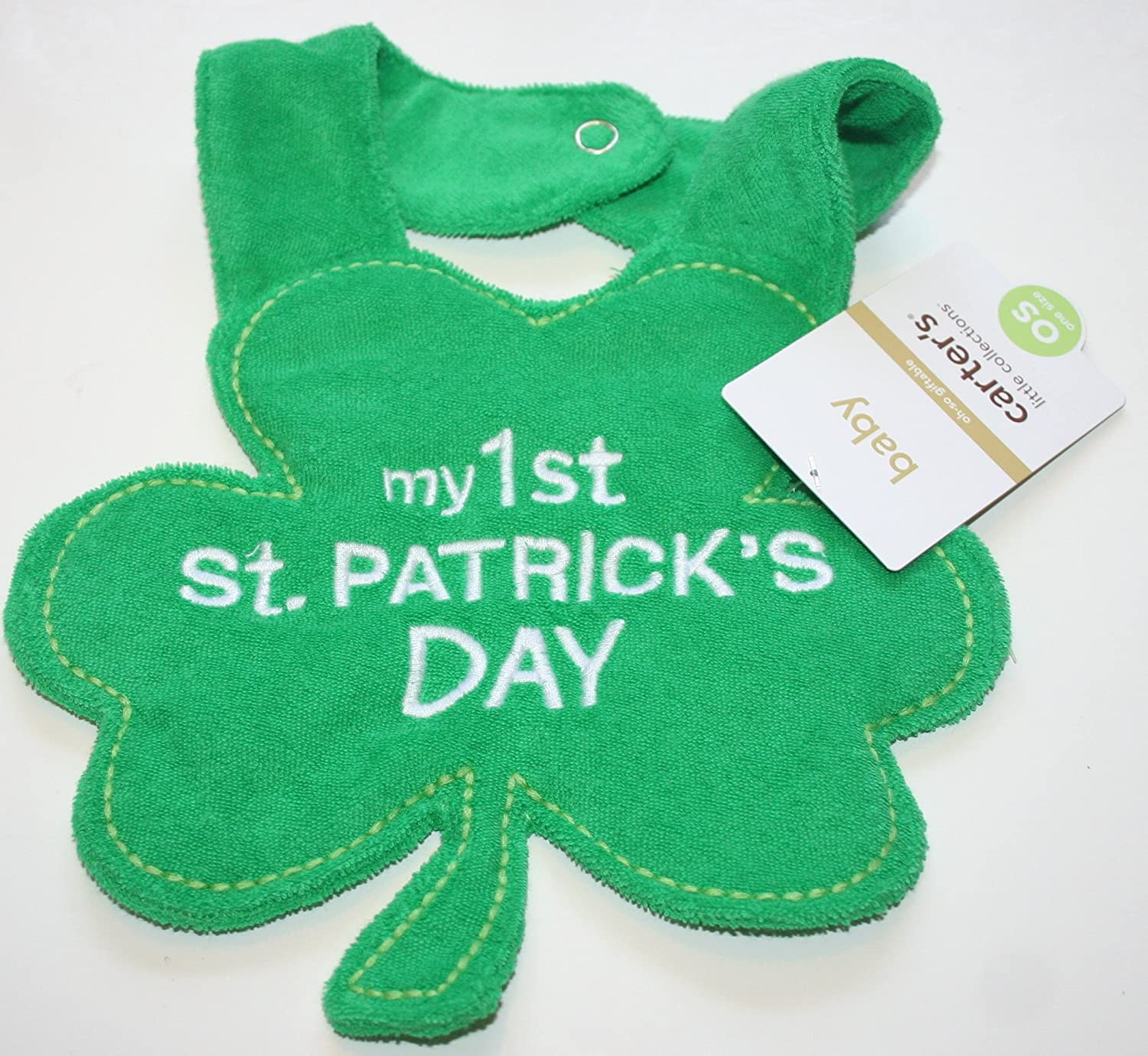 Carter s Green Baby Bib My First St Patrick s Day Amazon Home