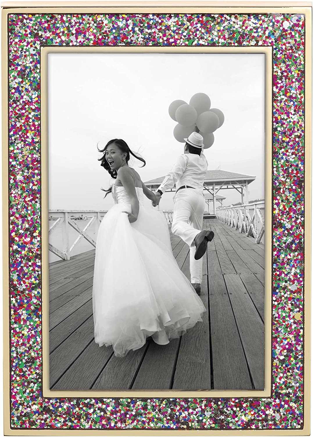 Amazon Com Kate Spade New York Simply Sparkling Multi Glitter 4x6 Picture Frame