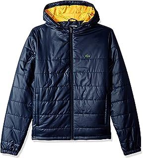 3283f43f53388 Amazon.com  Lacoste Boys  Woven Fleece FZ Hood Tracksuit  Clothing