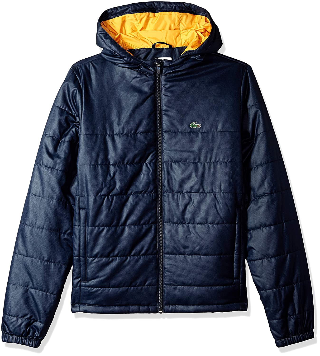 55b9fe30 Amazon.com: Lacoste Boy Sport Hooded Taffeta Tracksuit Jacket: Clothing