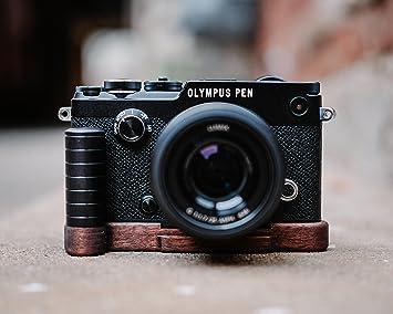 amazon j b カメラdesigns pro木製グリップfor olympus pen f 米国で