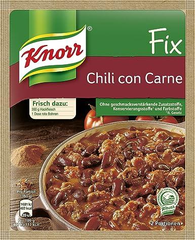 Knorr Fix Chili Con Carne 2 Portionen 25 X 37 G Amazonde