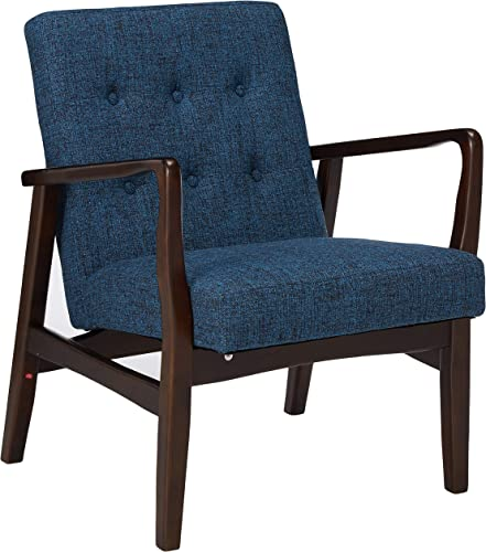 Christopher Knight Home Conrad Fabric Mid-Century Birch Club Chair