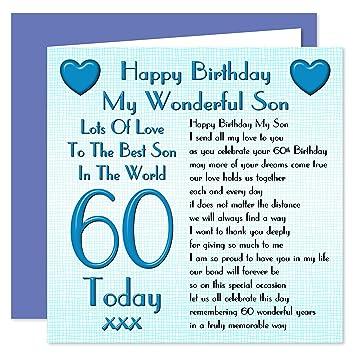 Son 60th Happy Birthday Card