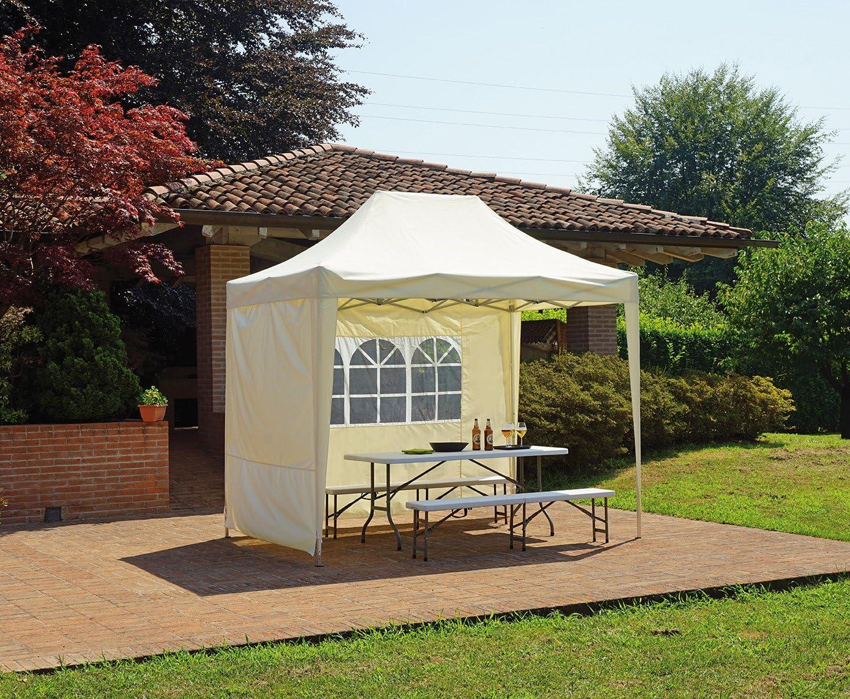 Import Cenador automático 3 x 2 Metros (Aluminio con Cortinas Laterales: Amazon.es: Jardín