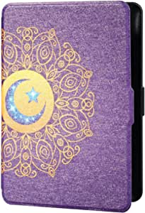 TERSELY Slimshell Case Cover for All-New Kindle Paperwhite 10th Generation-2018 (Model No. PQ94WIF), Smart Shell Cover with Auto Sleep/Wake for Amazon Kindle Paperwhite 10th (Moon Purple)