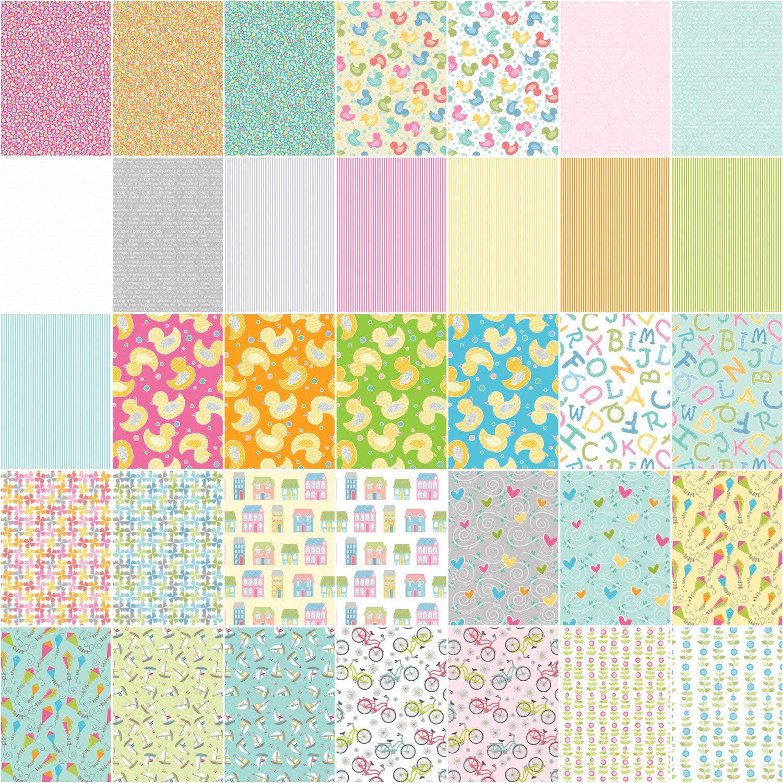 Cherry Guidry My Little Sunshine 2 5X5 Pack 42 5-inch Squares Charm Pack Benartex