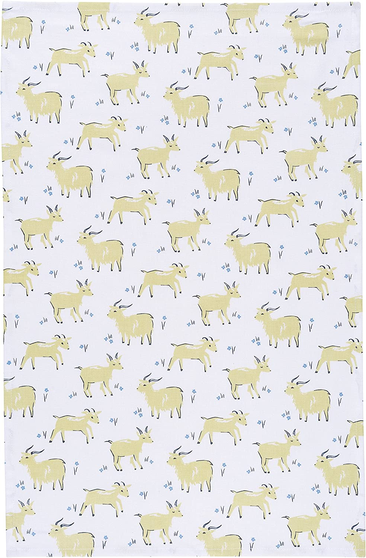 Now Designs Cotton Kitchen Towel, Goats