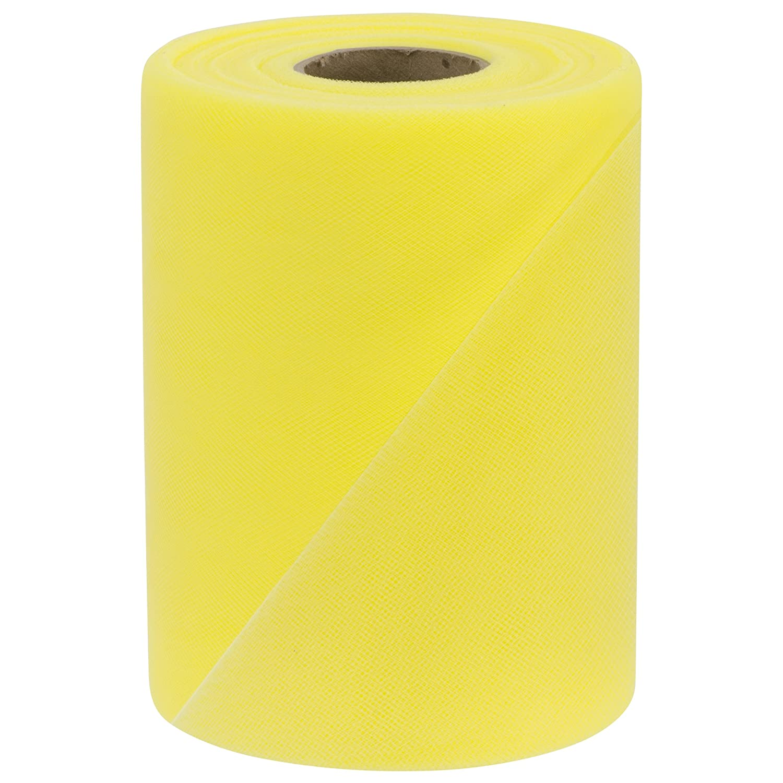 Falk Fabrics Tulle Spool 6-Inch by 100-Yard Lemon