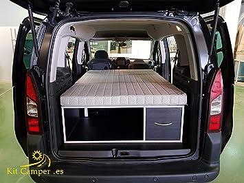 Mueble Kit Camper con colchón para Berlingo, Partner (negro): Amazon.es: Coche y moto
