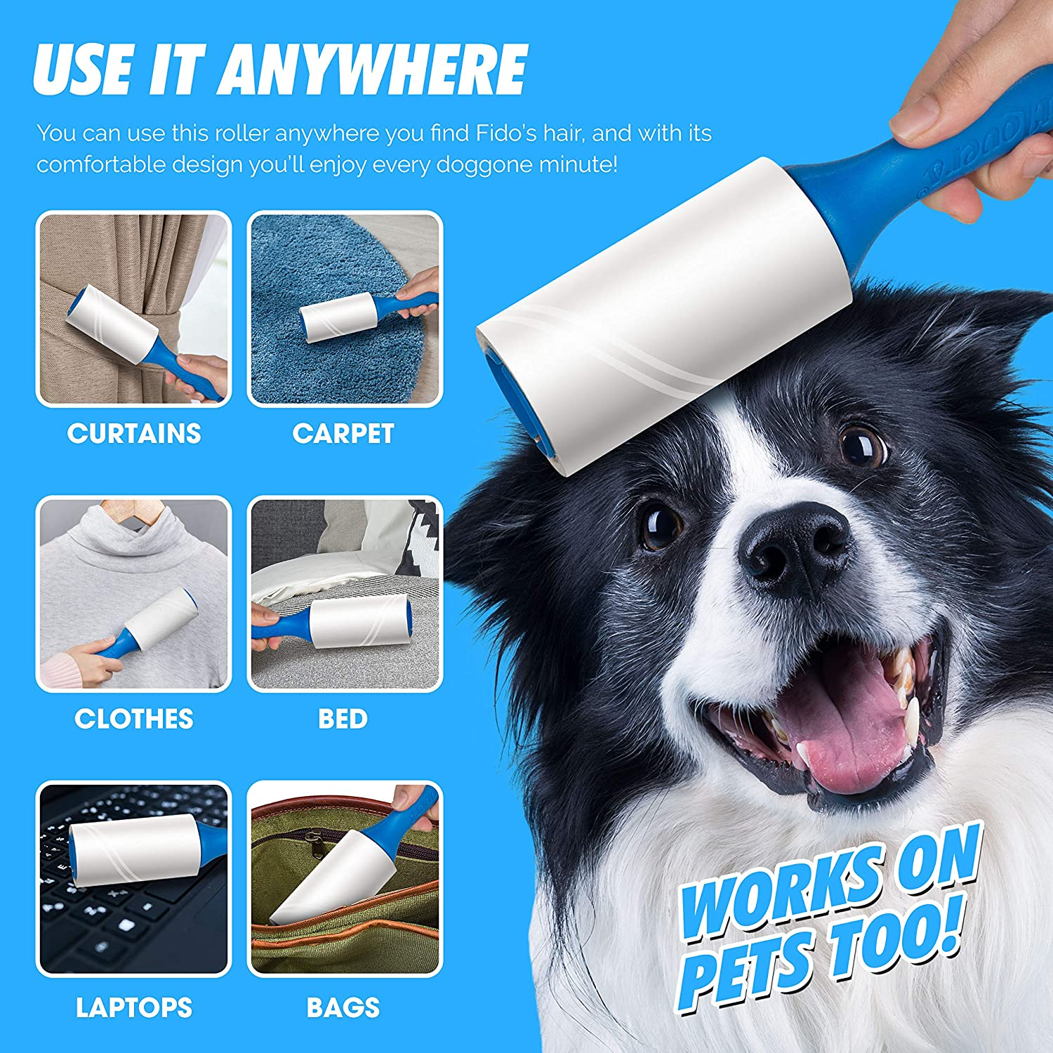 PetLovers Lint Rollers for Pet Hair Extra Sticky 420 Sheets - Lint Remover for Clothes: Health & Personal Care