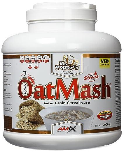 Amix Oatmash, Alimentación Natural, Cereal de Grano Instantáneo en Polvo, 2000 g