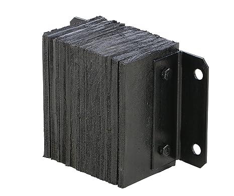 6a8138f341f30 Vestil 624-4.5 Horizontal Laminated Dock Bumper, Fabric Reinforced Rubber,  Rectangular, 4 Holes, 6