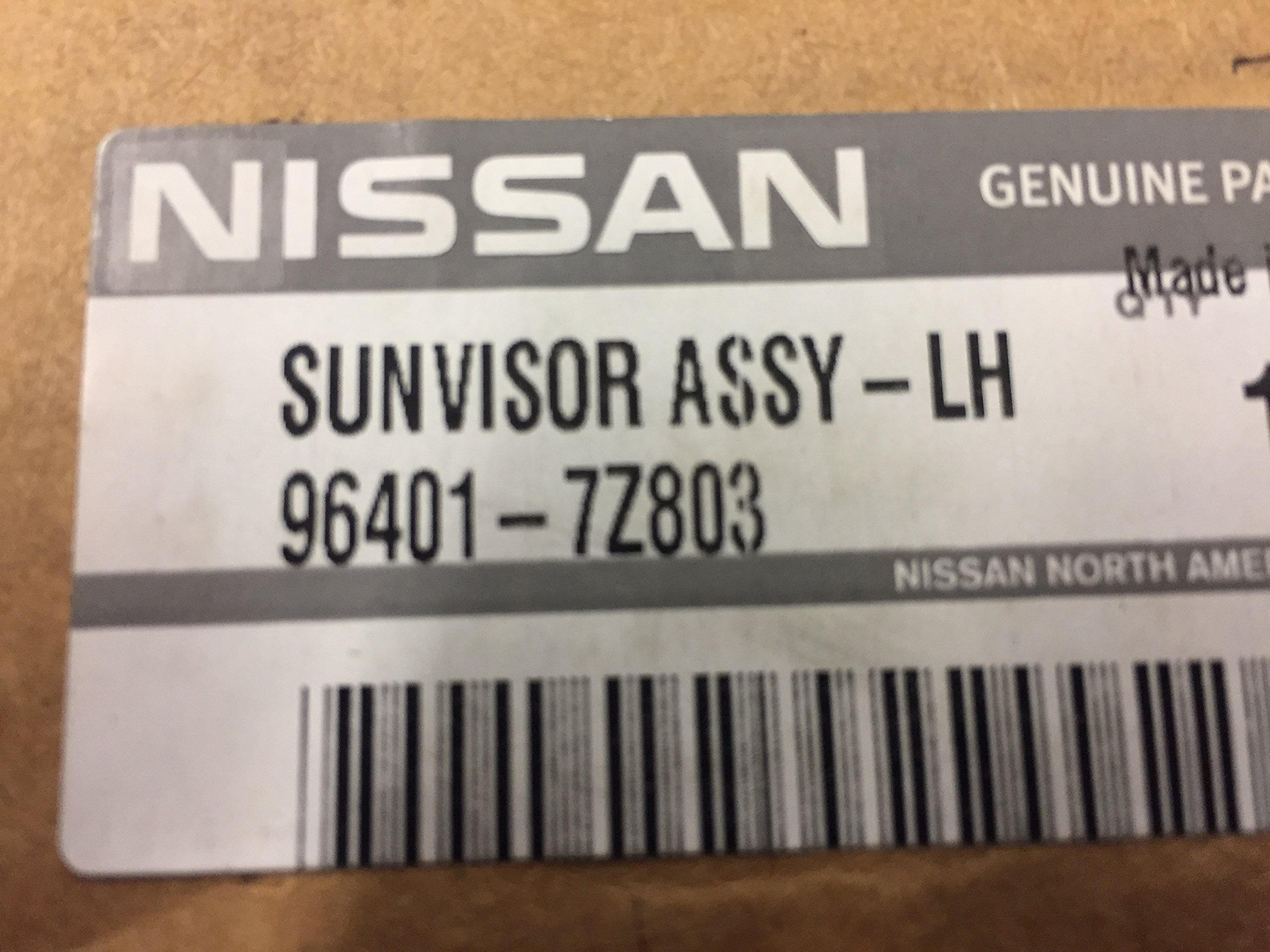 NEW OEM NISSAN 2002-2004 XTERRA / FRONTIER LEFT SIDE SUNVISOR - GREY IN COLOR by Nissan (Image #3)