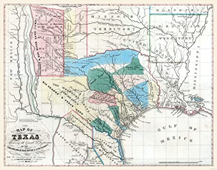 Map Of Texas 1835.Amazon Com Maps Of The Past Old State Map Texas Colorado River