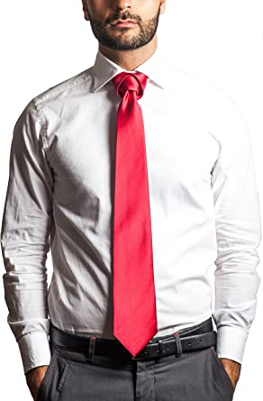 Mens Tulip Floral Pattern Fashion Casual Tie Necktie