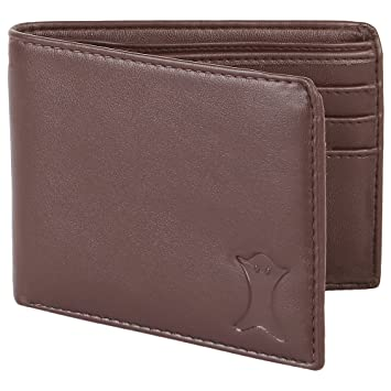 01b7cfcfcd8360 CREATURE Classic Pu-Leather Brown Wallet/Purse for Men/Boys(Brown ...