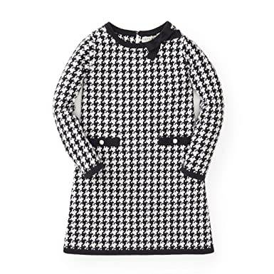 8169e8ad159 Hope   Henry Girls  Black and White Houndstooth Sweater Dress