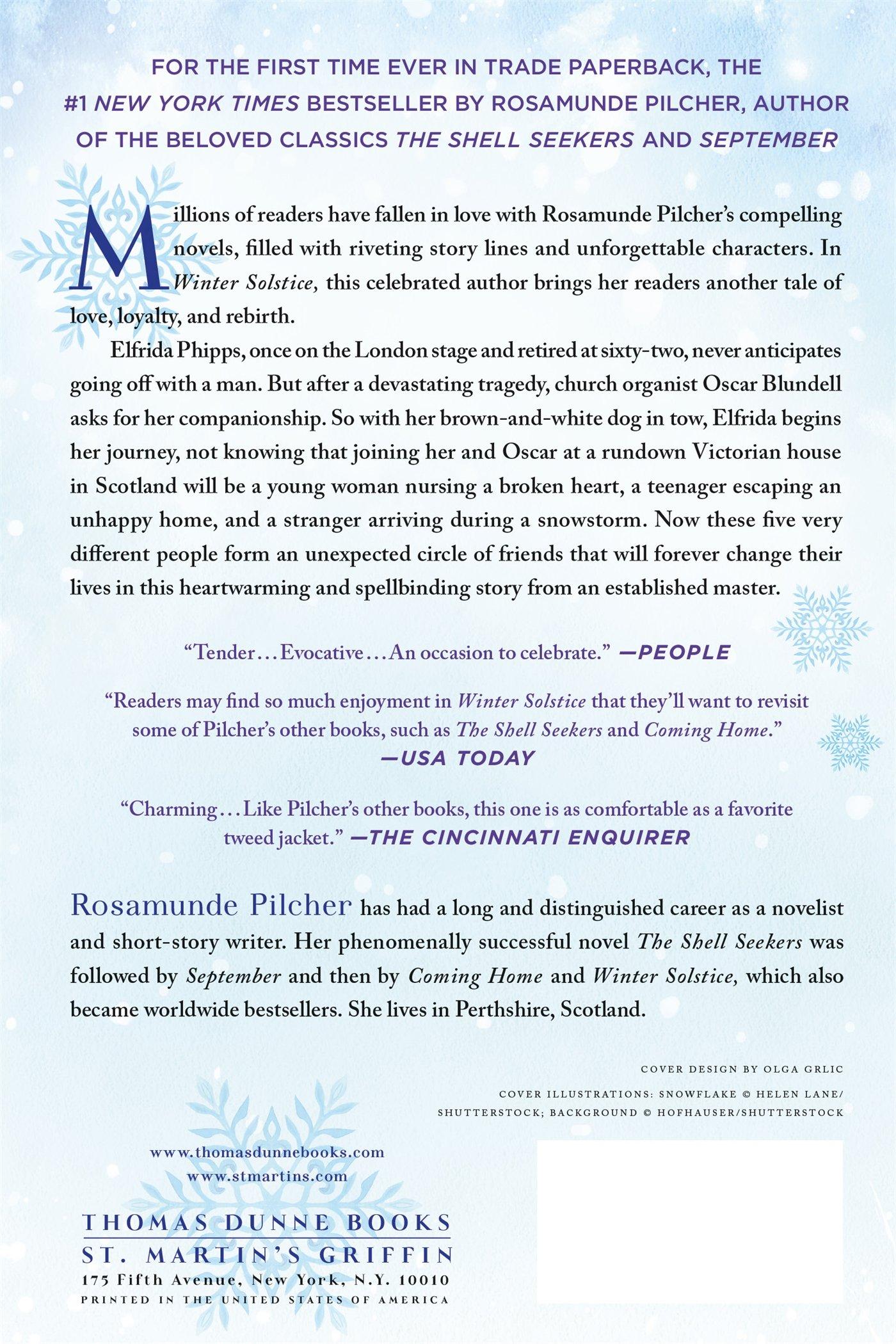 Winter Solstice: Amazon.co.uk: Rosamunde Pilcher: 9781250077462: Books
