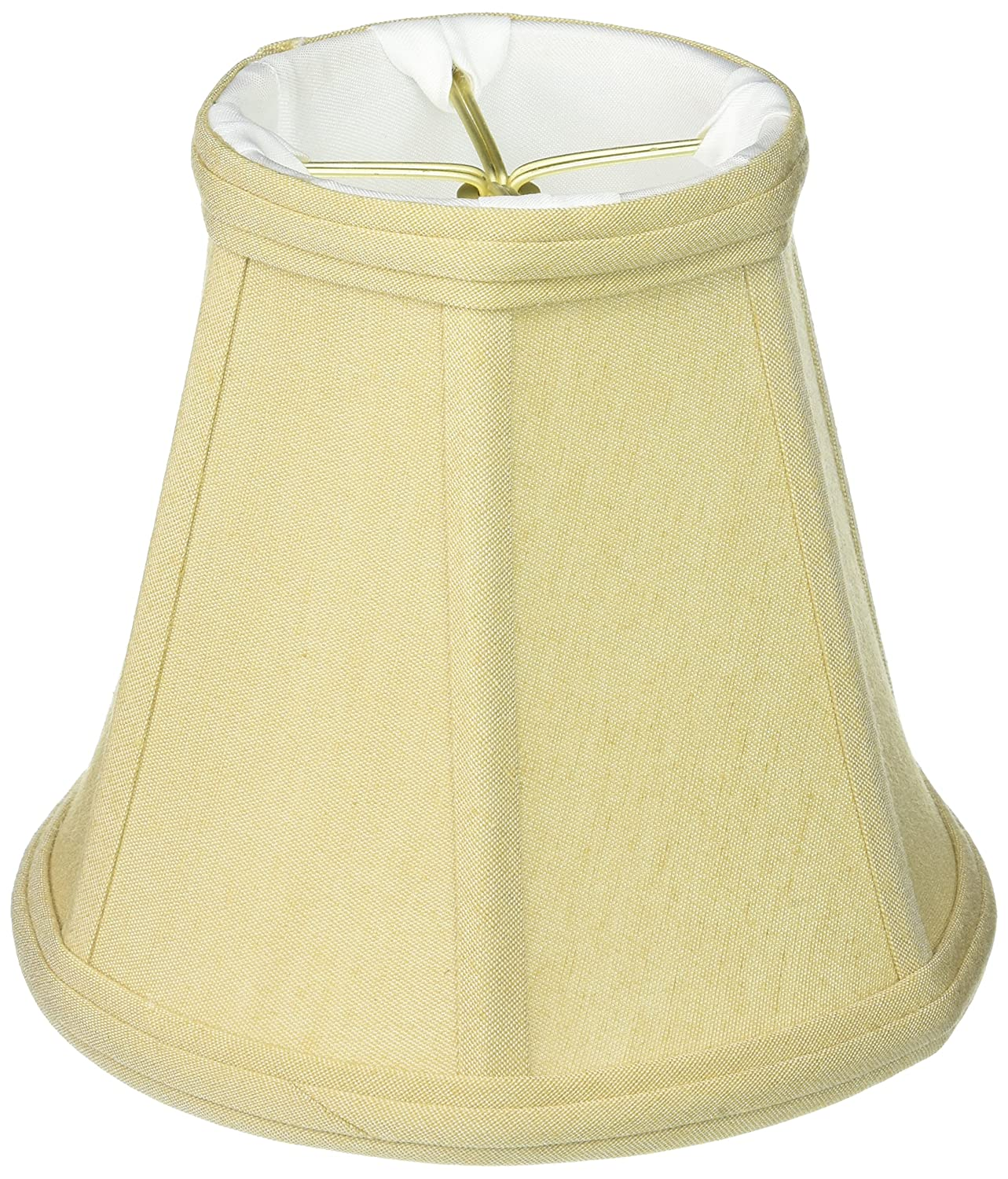 Flame Clip Royal Designs BS-707FC-6AGL deep Empire Lamp Shade Antique Gold 3.5 x 6 x 5.75