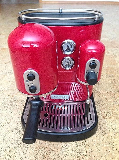 Kitchenaid 5KES2102EER - Cafetera de espresso, 1300 W, color rojo ...