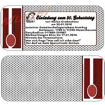 Einladungskarten 30 40 50 Zum Geburtstag Rockabilly Vintage Karten