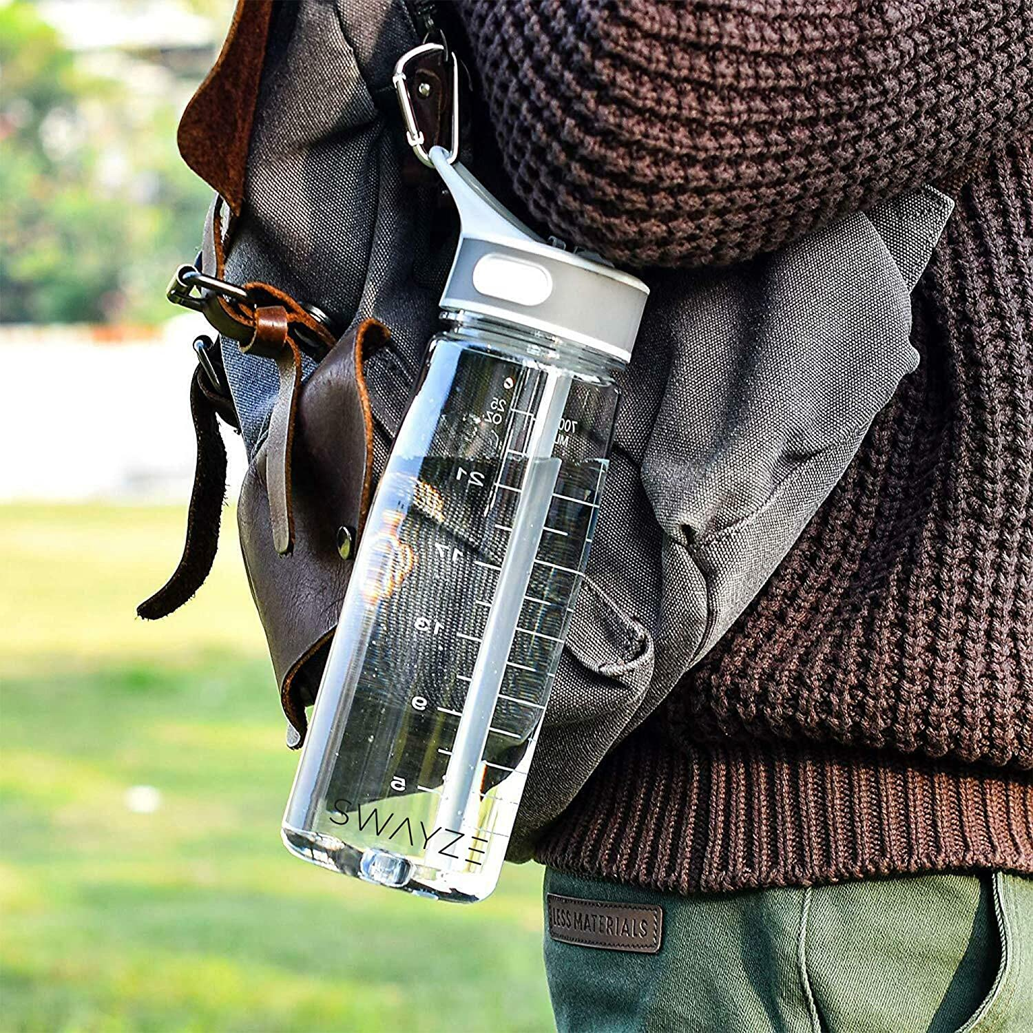 Swayze Water Bottle with Straw Cycling Sports 800ml Drinking School Water Bottles Gym Bpa Free