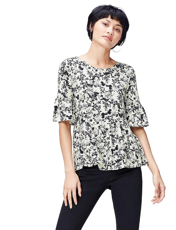 TALLA 36 (Talla del fabricante: X-Small). FIND Blusa Estampada para Mujer