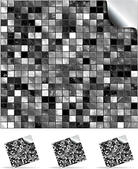 24 Black And White   Printed In 2d Kitchen / Bathroom Tile STICKERS For  150mm ( Images
