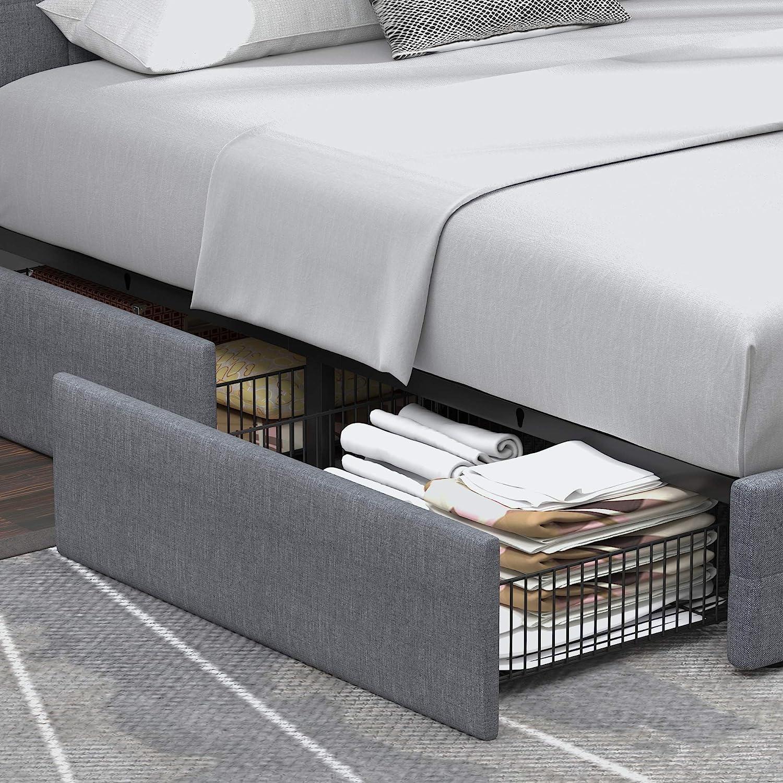 platform queen bed with storage