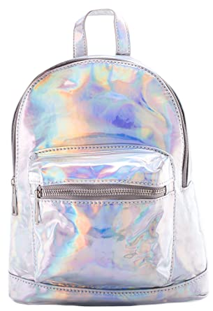 480bed6369e7 Mini Backpack - Silver Hologram