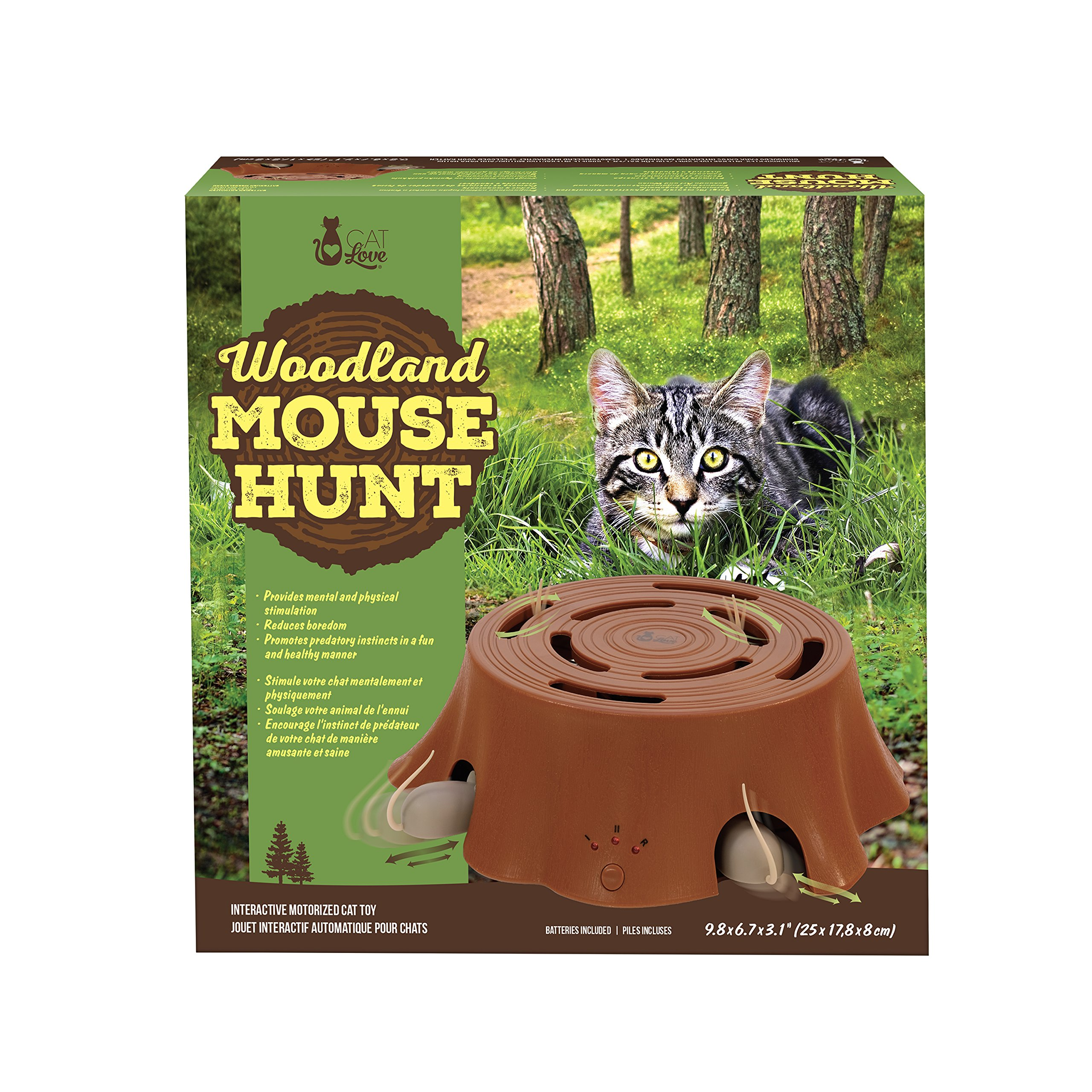 Cat Love Woodland Mouse Hunt Interactive Toy by Love Cat