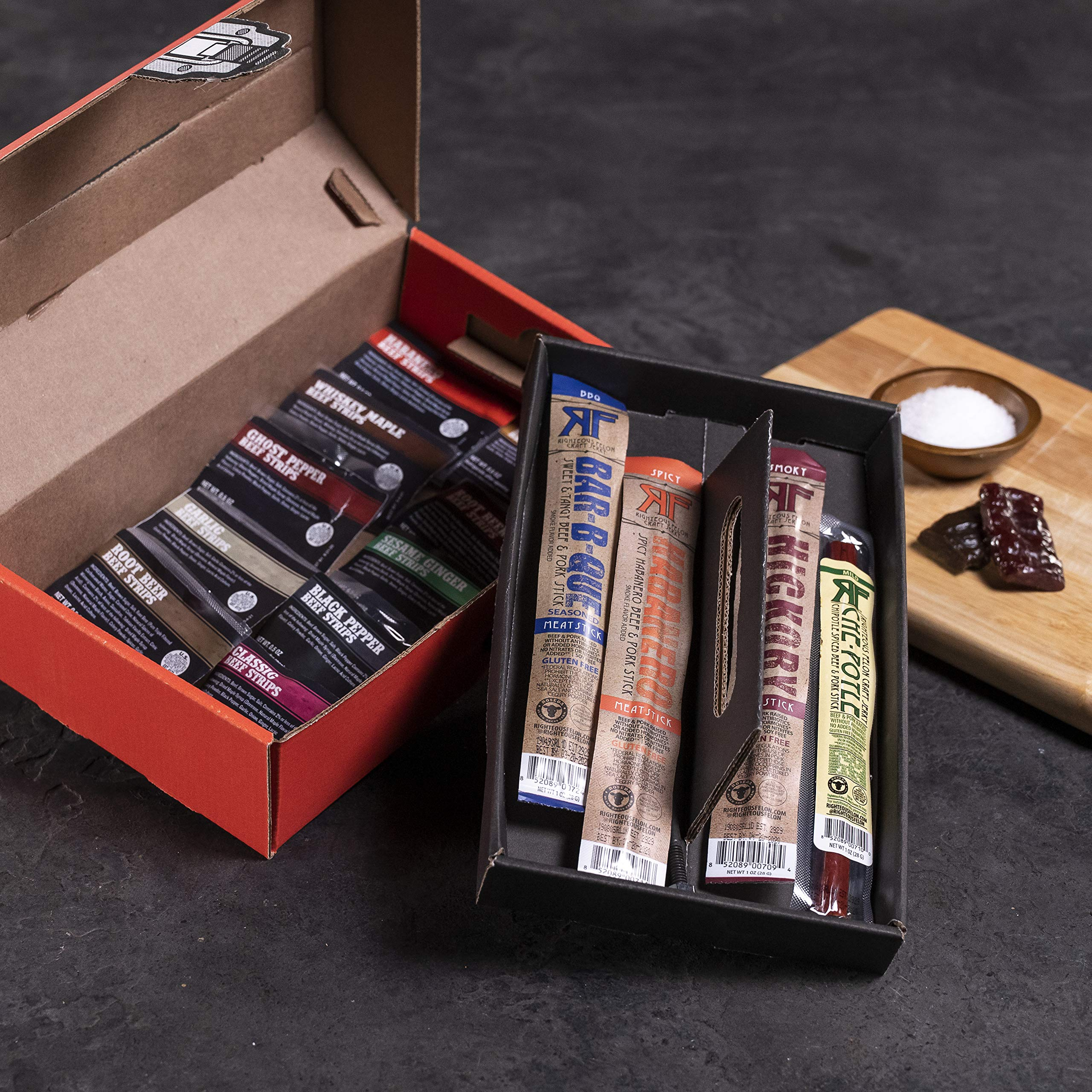Man Crates Jerky Tool Box - Unique Gift For Men - Includes 14 Delicious Beef Jerky Flavors - In A Delightfully Surprising Tool-Shaped Box by Man Crates (Image #3)